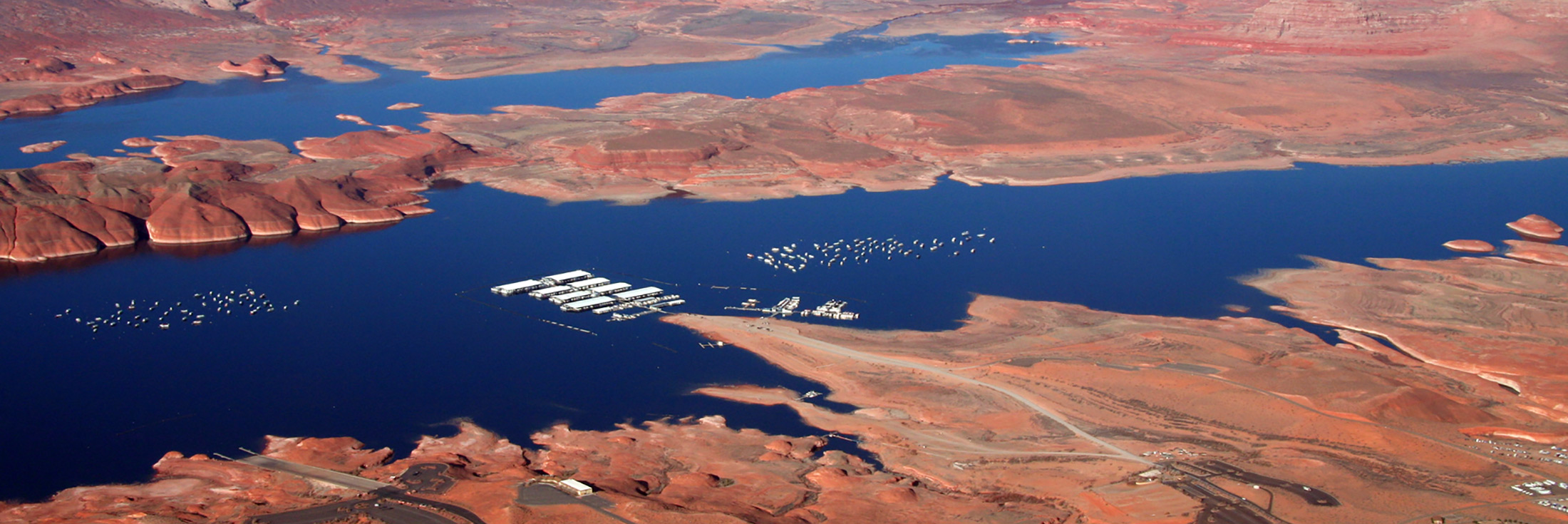 Aerial Of Bullfrog Marina C Lake Powell 2200X735