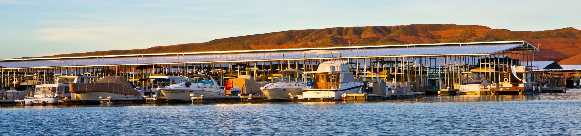 Covered Boat Slips at Bullfrog Marina on Lake Powell