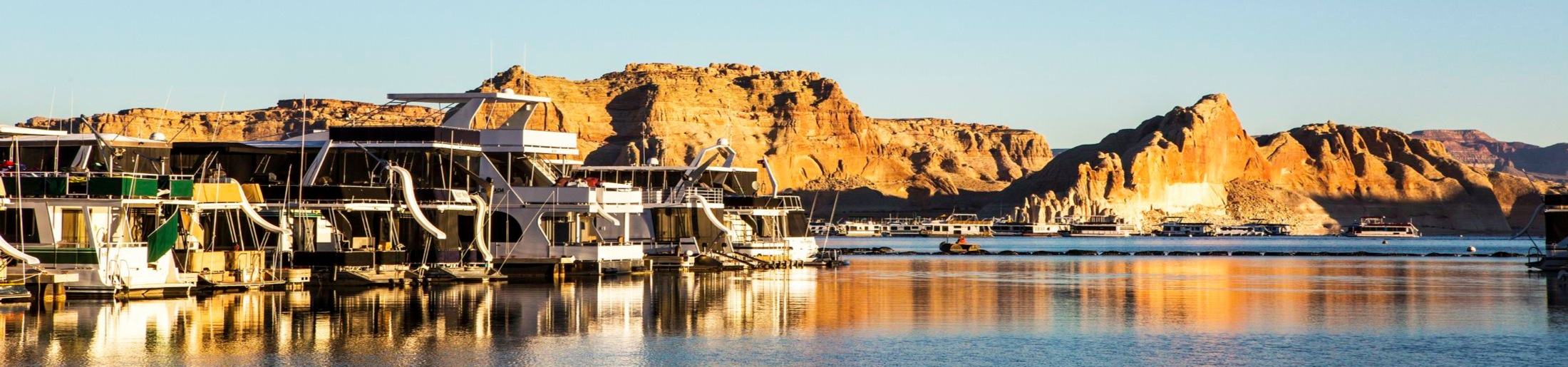 Wahweap Marina on Lake Powell in Arizona